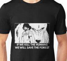 Studio Ghibli - Princess Mononoke Kill Humans, Save the Forest Unisex T-Shirt