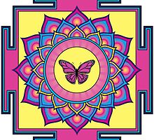 Butterfly Mandala by GalacticMantra