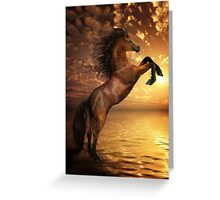 Freedom - Rearing Horse Artwork Greeting Card