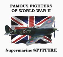 Famous Fighters - Supermarine Spitfire Kids Clothes