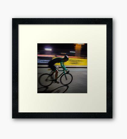 Fast Lady Framed Print