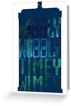 Wibbly Wobbly Timey Wimey Tardis - Doctor Who  by Karen Edwards