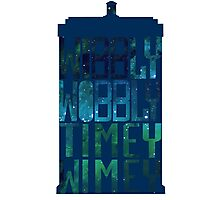 Wibbly Wobbly Timey Wimey Tardis - Doctor Who  Photographic Print