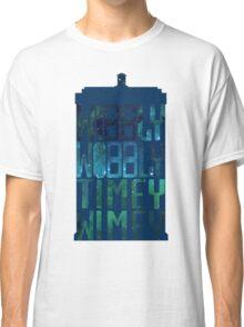 Wibbly Wobbly Timey Wimey Tardis - Doctor Who  Classic T-Shirt