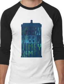 Wibbly Wobbly Timey Wimey Tardis - Doctor Who  Men's Baseball ¾ T-Shirt