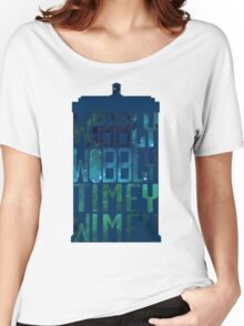 Wibbly Wobbly Timey Wimey Tardis - Doctor Who  Women's Relaxed Fit T-Shirt
