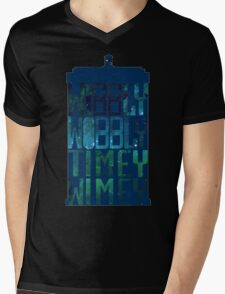 Wibbly Wobbly Timey Wimey Tardis - Doctor Who  Mens V-Neck T-Shirt