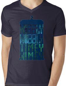Wibbly Wobbly Timey Wimey Tardis - Doctor Who  Mens V-Neck T-Shirt
