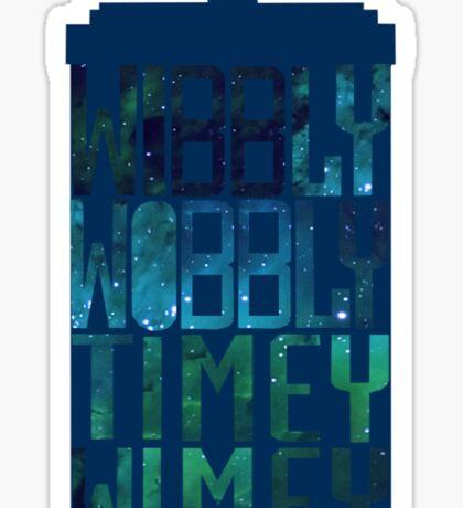 Wibbly Wobbly Timey Wimey Tardis - Doctor Who  Sticker