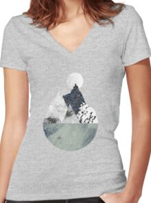 Winter Women's Fitted V-Neck T-Shirt