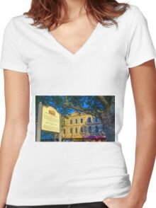 The Beehive Complex Women's Fitted V-Neck T-Shirt