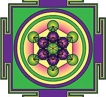 Metatron's Cube Mandala by GalacticMantra