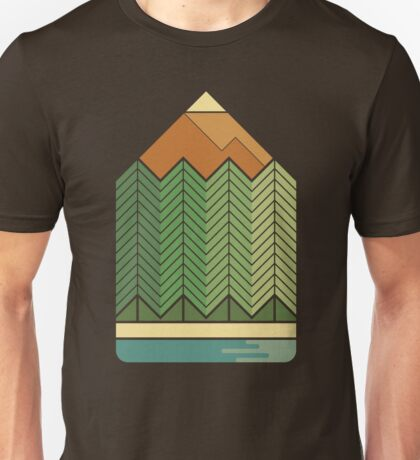 Drawing Mountains Unisex T-Shirt