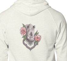 Endangered Beauty - Profits donated to Save the Rhinos Zipped Hoodie