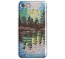 Oil Pastel Lake Reflections iPhone Case/Skin