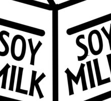 Soy Milk // black and white Sticker