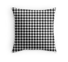 Houndstooth Black And White Checkered Throw Pillow