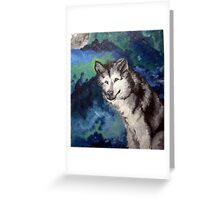 Loup,Lune/Wolf Moon Greeting Card