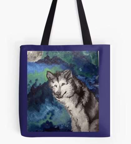 Loup,Lune/Wolf Moon Tote Bag