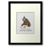 sloth speed Framed Print