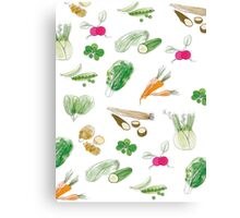 Veggie Love Canvas Print