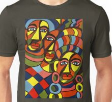 African Traditional Tribal Women Abstract Art Canvas Painting for Women, Girls, Ladies, Kids 5 Unisex T-Shirt