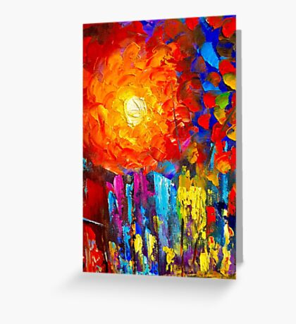 Funky Oil Colours Greeting Card