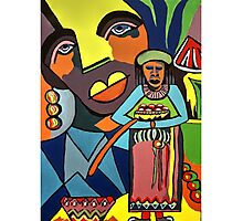 African Traditional Tribal Women Abstract Art Canvas Painting for Women, Girls, Ladies, Kids 6 Photographic Print