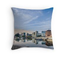 Salthouse Dock Liverpool Throw Pillow