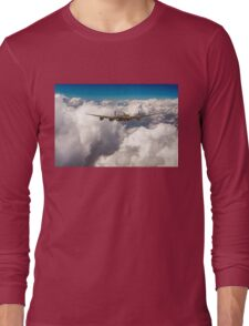 Avro Lancaster above clouds Long Sleeve T-Shirt