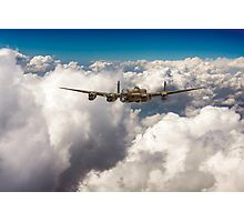Avro Lancaster above clouds Photographic Print
