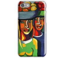 African Traditional Tribal Women Abstract Art Canvas Painting for Women, Girls, Ladies, Kids 7 iPhone Case/Skin