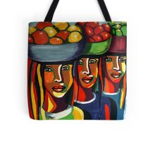 African Traditional Tribal Women Abstract Art Canvas Painting for Women, Girls, Ladies, Kids 7 Tote Bag