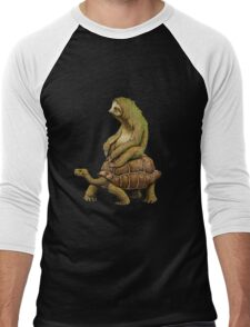 Funny Turtle,Fast,Animal,Lucky Turtle,Ninja,Speed Men's Baseball ¾ T-Shirt