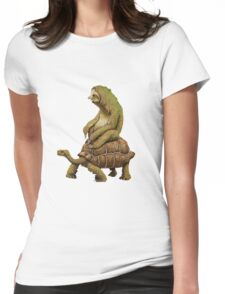 Funny Turtle,Fast,Animal,Lucky Turtle,Ninja,Speed Womens Fitted T-Shirt