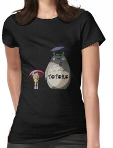 Totoro, Satsuki and Mei Womens Fitted T-Shirt