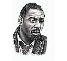 Idris Elba b&w image Photographic Print