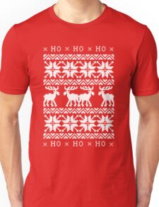 CHRISTMAS DEER KNITTED SWEATER PATTERN Unisex T-Shirt
