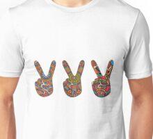 2 finger Peace sign Unisex T-Shirt