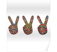 2 finger Peace sign Poster