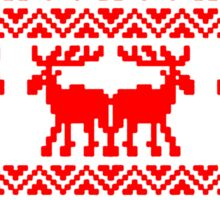 CHRISTMAS DEER SWEATER KNITTED PATTERN Sticker