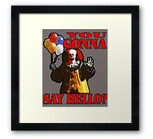 Pennywise the Clown - IT by Stephen King Framed Print