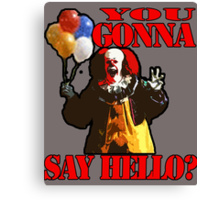 Pennywise the Clown - IT by Stephen King Canvas Print