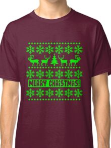 MERRY CHRISTMAS DEER SWEATER KNITTED PATTERN Classic T-Shirt