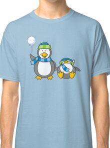 Snowballing penguins Classic T-Shirt