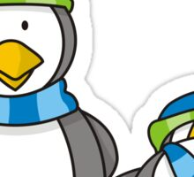 Snowballing penguins Sticker