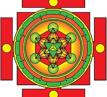 Metatron's Cube Merkaba Mandala by GalacticMantra