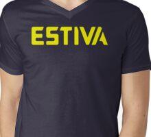 Estiva yellow Mens V-Neck T-Shirt