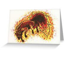 Feuerwolf Greeting Card