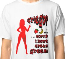 Sexy Woman do not understand Griego Funny T-Shirt Classic T-Shirt